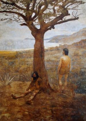 Fig. 4. Belmiro de Almeida, Os Descobridores (The Discoverers), 1899, oil on canvas, 260 x 200 cm, Museu Histórico do Itamaraty, Rio de Janeiro